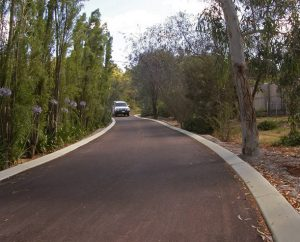 Rural driveway in Parkerville