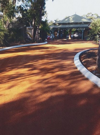 Residential driveway resurfacing Perth in Brigadoon