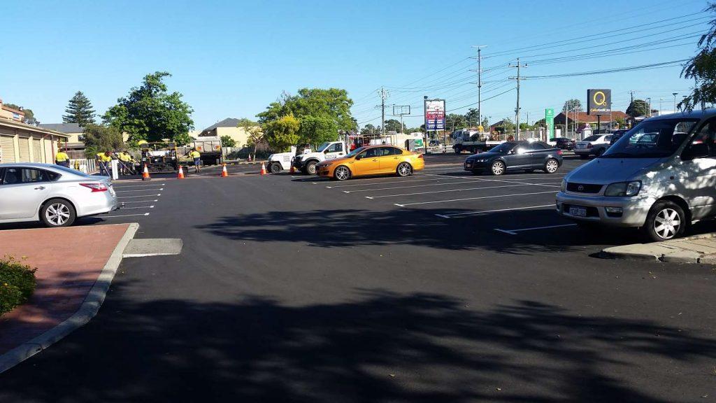Nk asphalt Hambleys IGA standard granite car park
