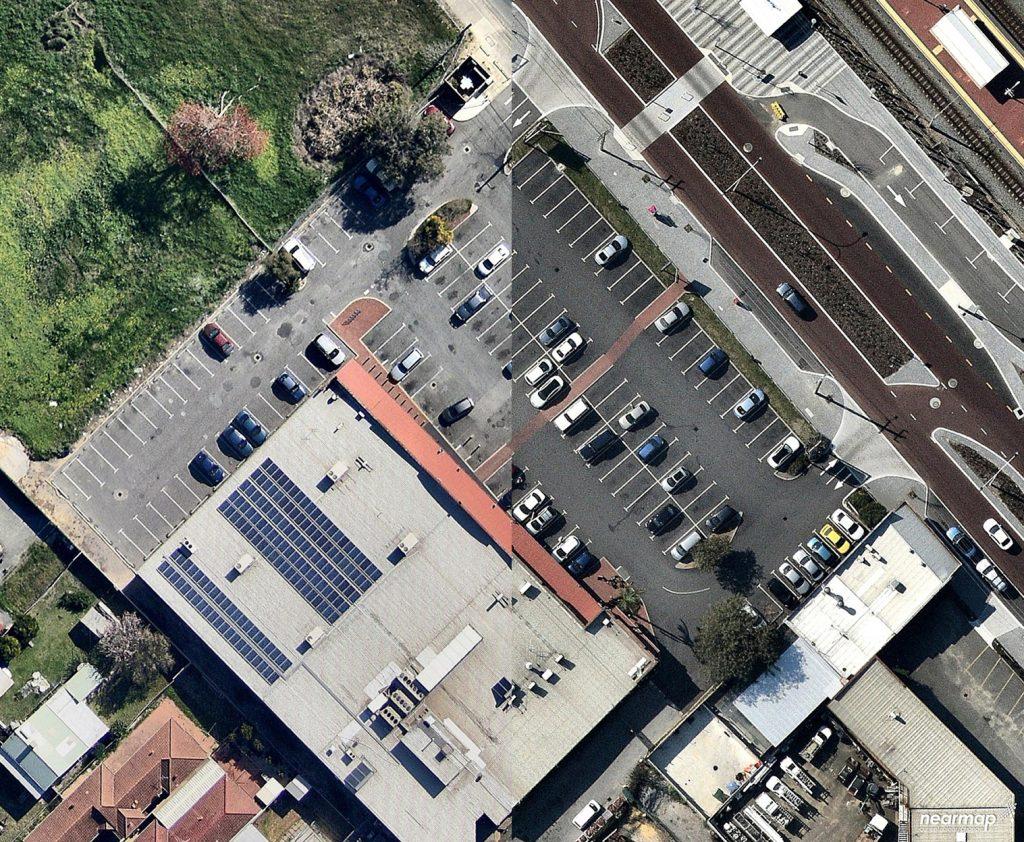 Hambleys IGA Nk asphalt car park