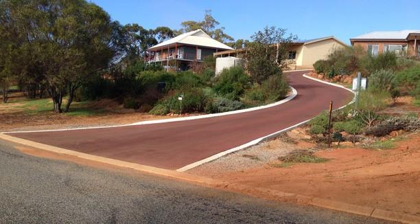 Nk asphalt red oxide driveway