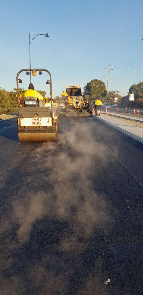 Nk asphalt Beeliar commercial road roller