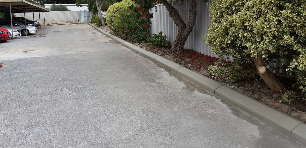 Nk asphalt semi mountable kerb car parks
