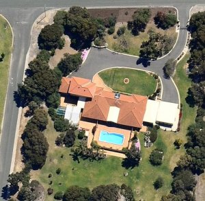aerial view of driveway resurfacing perth