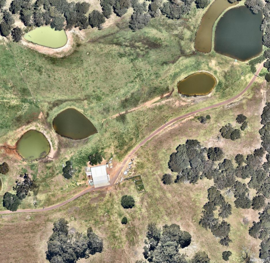 Aerial view of rural driveways by NK Asphalt in Teesdale