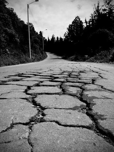 Block Cracks in Asphalt