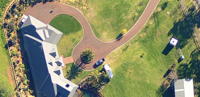 Residential driveway asphalt